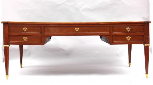Large Bureau flat Louis XVI Mahogany Speckled - Louis XVI
