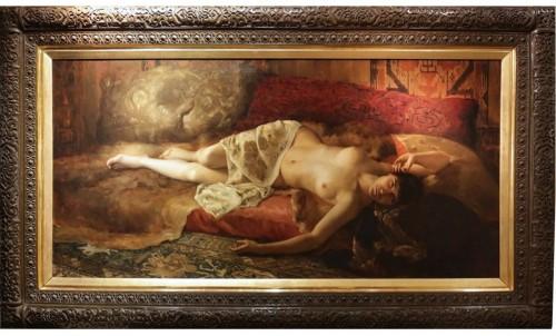 Woman Lying - Pierre Joseph Mousset (1850-1894)