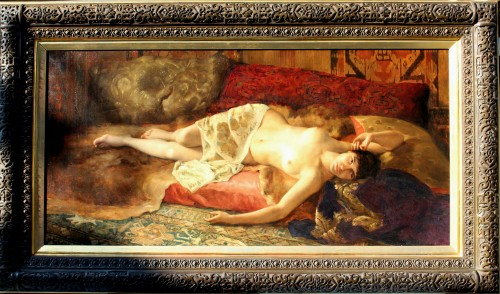 Woman Lying - Pierre Joseph Mousset (1850-1894) -