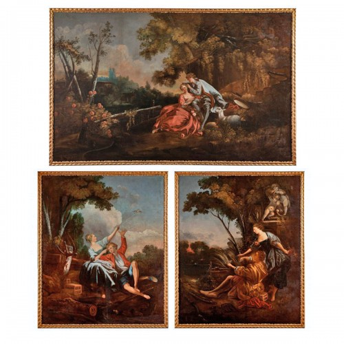 Very Large Triptych - 18th Century French School, Follower of François Boucher