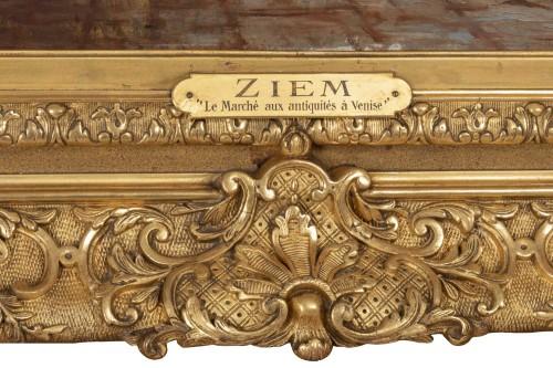 The antique market in Venice, - Félix Ziem (1821–1911)   -