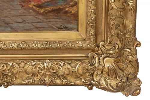 19th century - The antique market in Venice, - Félix Ziem (1821–1911)