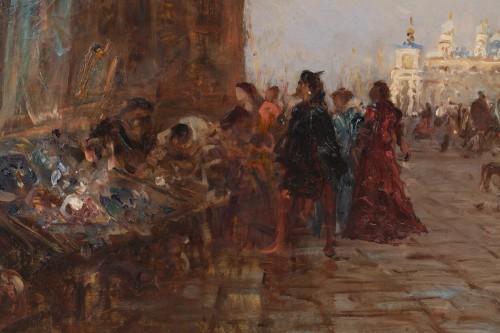 The antique market in Venice, - Félix Ziem (1821–1911)   - Napoléon III