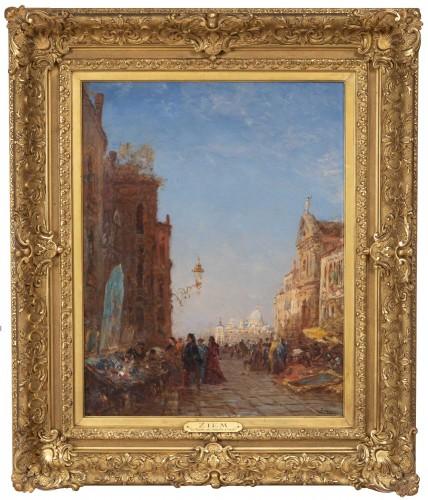 Napoléon III - The antique market in Venice, - Félix Ziem (1821–1911)