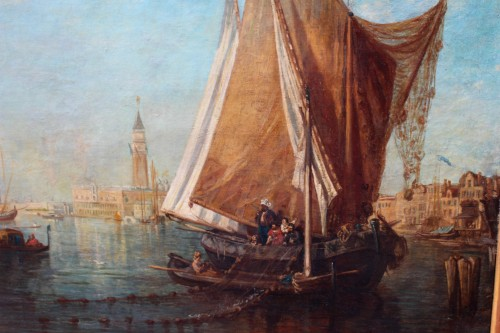 Attributed to Ludwig Theodor Choulant (1827-1900) -  Venise View - Paintings & Drawings Style Napoléon III