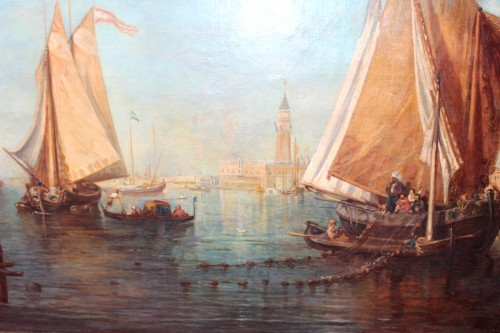 Paintings & Drawings  - Attributed to Ludwig Theodor Choulant (1827-1900) -  Venise View