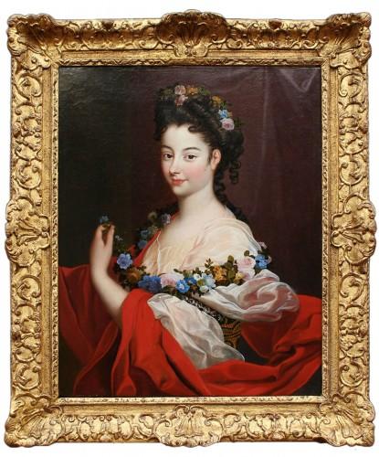 Portrait of Elegant Regence Period Attributed to H. RIGAUD (1659-1743)