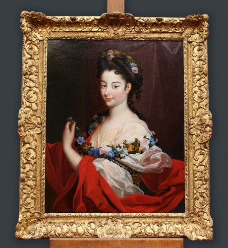 Portrait of Elegant Regence Period Attributed to H. RIGAUD (1659-1743) - Paintings & Drawings Style French Regence