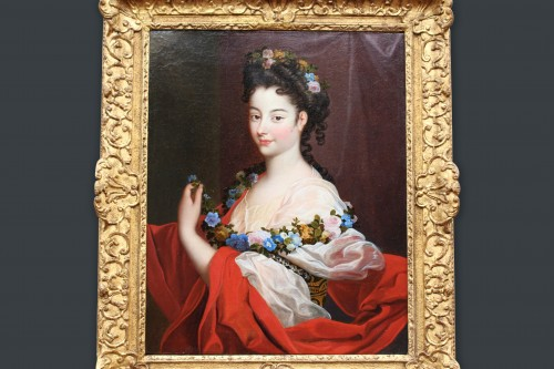 Paintings & Drawings  - Portrait of Elegant Regence Period Attributed to H. RIGAUD (1659-1743)