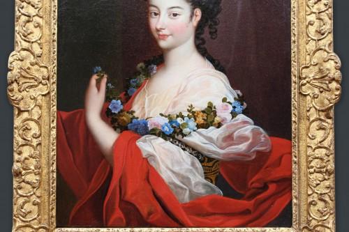 Portrait of Elegant Regence Period Attributed to H. RIGAUD (1659-1743) -