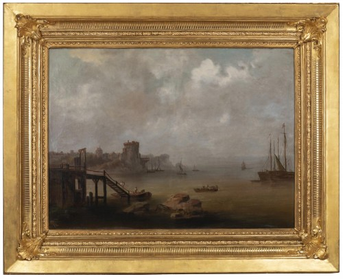 Pair of large marine paintings of the late nineteenth Dutch school. - Paintings & Drawings Style Napoléon III