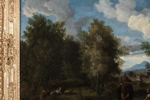 Paintings & Drawings  - Landscape in the antique of the late 17th,early 18th attributed Van Bloemen