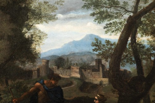 Landscape in the antique of the late 17th,early 18th attributed Van Bloemen - Louis XIV