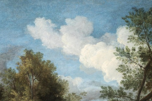 Louis XIV - Landscape in the antique of the late 17th,early 18th attributed Van Bloemen