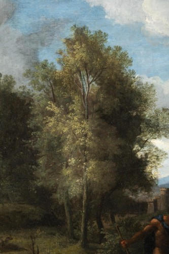 Antiquités - Landscape in the antique of the late 17th,early 18th attributed Van Bloemen