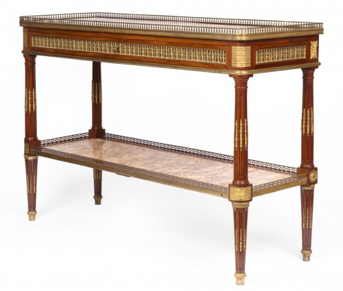 Serving console Louis XVI period stamped by Adam Weisweiler