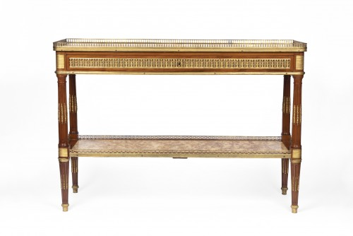 Serving console Louis XVI period stamped by Adam Weisweiler - Furniture Style Louis XVI