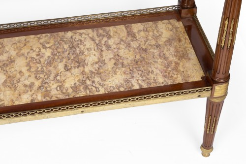 Furniture  -  Serving console Louis XVI period stamped by Adam Weisweiler