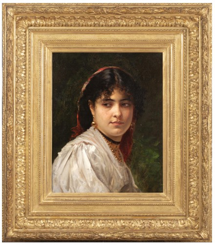 Woman's portrait -  Léon Bonnat - Paintings & Drawings Style Napoléon III