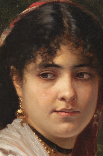Paintings & Drawings  - Woman's portrait -  Léon Bonnat