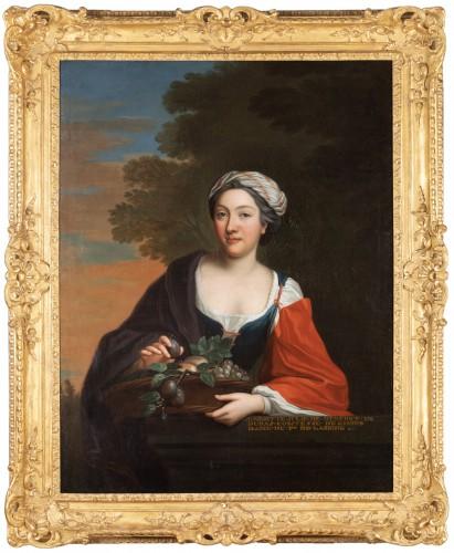 Portrait Of Henriette Julie de Dufort of Duras - Paintings & Drawings Style Louis XV