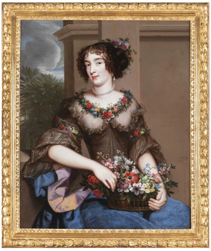Portrait an elegant woman attributed to Pierre Mignard around 1