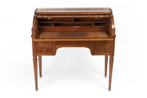 Cylinder desk from the Louis XVI period - Furniture Style Louis XVI