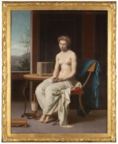 Portrait The woman with the blue bird - Désiré Philippe 1860 - Napoléon III