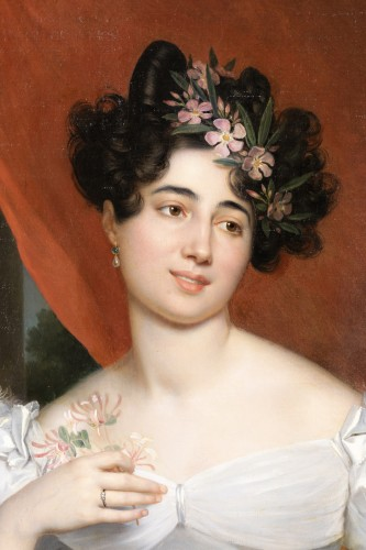 19th century - Portrait of Valentine Julie of Contades   - R-T Berthon (1776-1849)