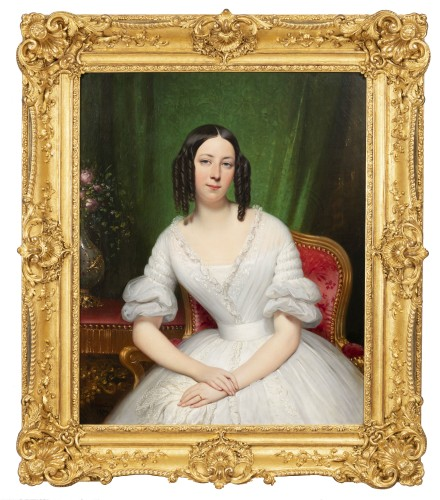 Portrait of a woman signed by J.D Court 1839