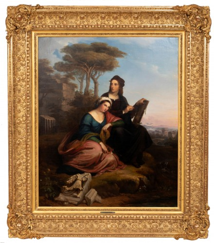 Raphaël and the Fornarina - Joseph Mathieu Lambert (1804-1861)