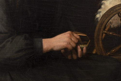"Paintings & Drawings  - Portrait ""I have good tobacco in my snuffbox"" - Yolande de la Rochefoucauld"