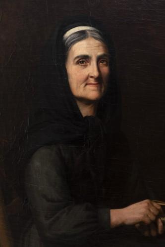 "19th century - Portrait ""I have good tobacco in my snuffbox"" - Yolande de la Rochefoucauld"