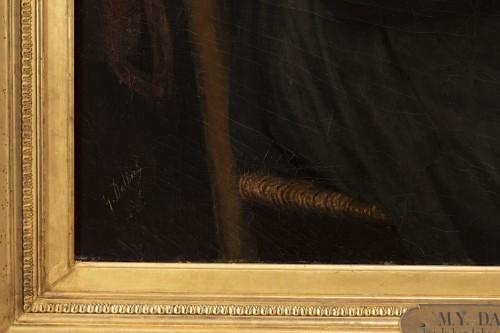 """Portrait """"I have good tobacco in my snuffbox"""" - Yolande de la Rochefoucauld - Napoléon III"""