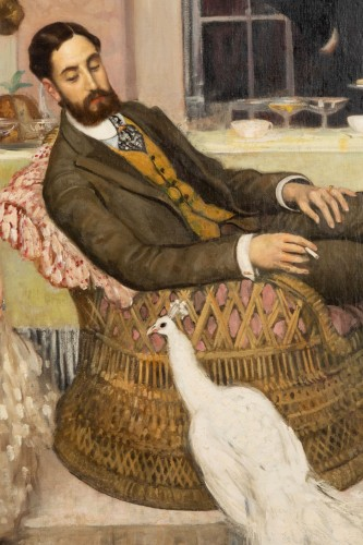 Paintings & Drawings  - The White Peacock -  Henry Caro Delvaille (1876 - 1928)