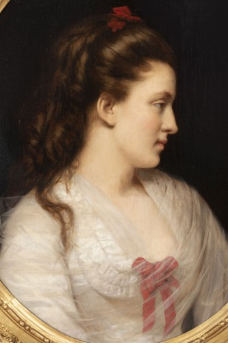 Portrait of a young woman - Paintings & Drawings Style Napoléon III