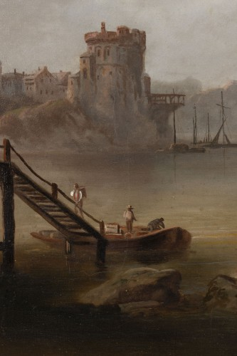 Pair of large marine paintings of the late nineteenth Dutch school. -