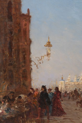 The antique market in Venice, - Félix Ziem (1821–1911)   - Napoléon III