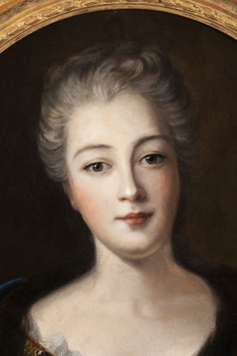 Paintings & Drawings  - Portrait of Madame de Montalais attributed to Pierre Mignard (1612-1695)
