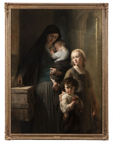 Edouard Louis Dubufe (1820-1883) The Denarius of the Widow