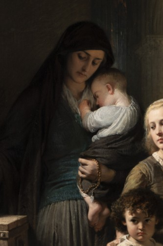 Edouard Louis Dubufe (1820-1883) The Denarius of the Widow - Paintings & Drawings Style Napoléon III