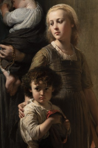 Edouard Louis Dubufe (1820-1883) The Denarius of the Widow -