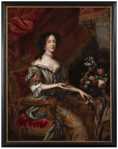 Portrait 17th century, princess Marie Beatrice Eléonore Isabel d'Este
