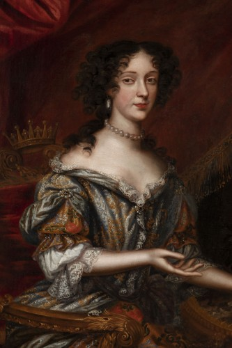Portrait 17th century, princess Marie Beatrice Eléonore Isabel d'Este - Paintings & Drawings Style Louis XIV