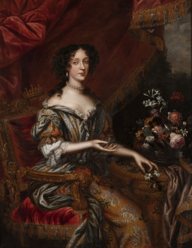 Paintings & Drawings  - Portrait 17th century, princess Marie Beatrice Eléonore Isabel d'Este