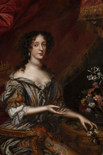 Portrait 17th century, princess Marie Beatrice Eléonore Isabel d'Este - Louis XIV