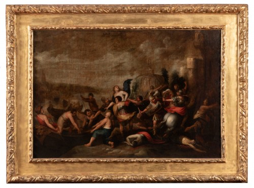The kidnapping of Hélène, Attributed to Frans Francken II