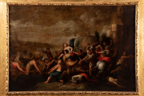 The kidnapping of Hélène, Attributed to Frans Francken II - Paintings & Drawings Style Louis XIV