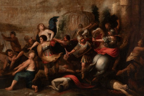 Paintings & Drawings  - The kidnapping of Hélène, Attributed to Frans Francken II