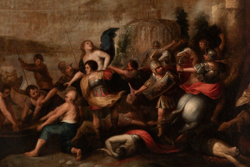 The kidnapping of Hélène, Attributed to Frans Francken II -